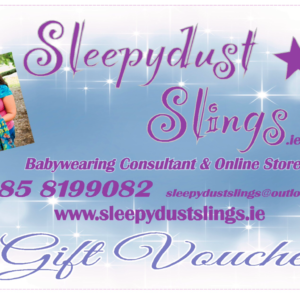 Sleepydust Slings gift card.